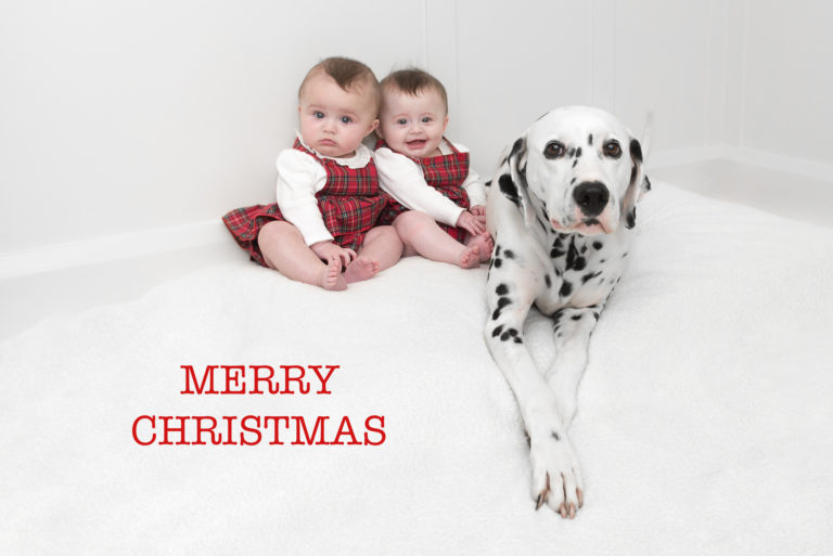 Bespoke Christmas cards can be made by baby & family photographer