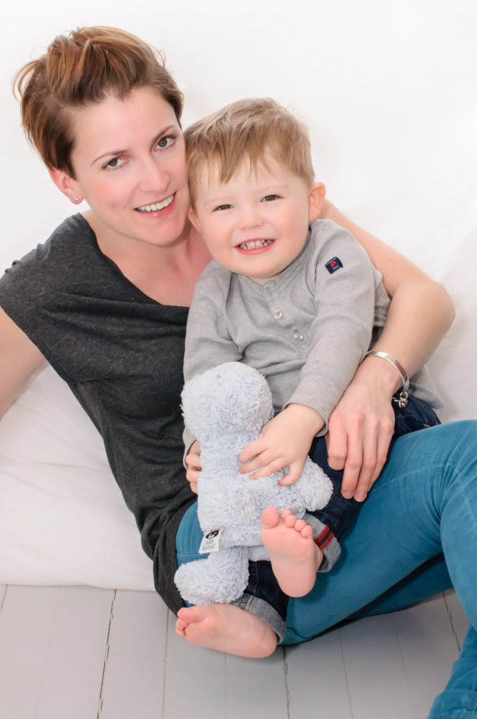 Family photo of mummy and child in Westminster, London